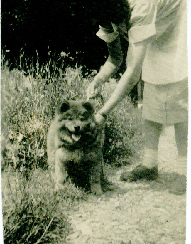 Hazel Peterson with Dog
