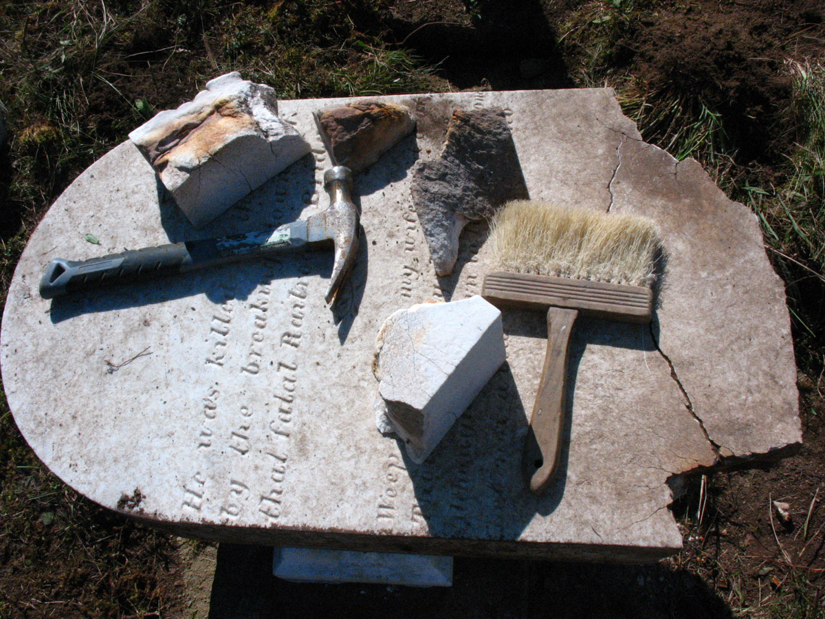 Stanley Cemetery conservation project  research (2014)