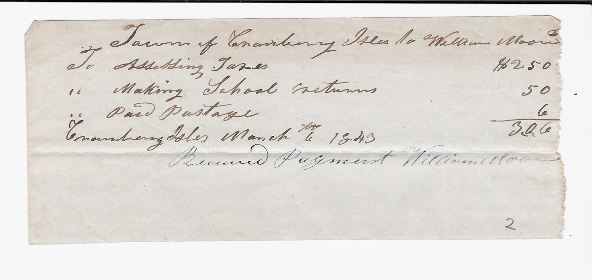 Town of Cranberry Isles records - 1843