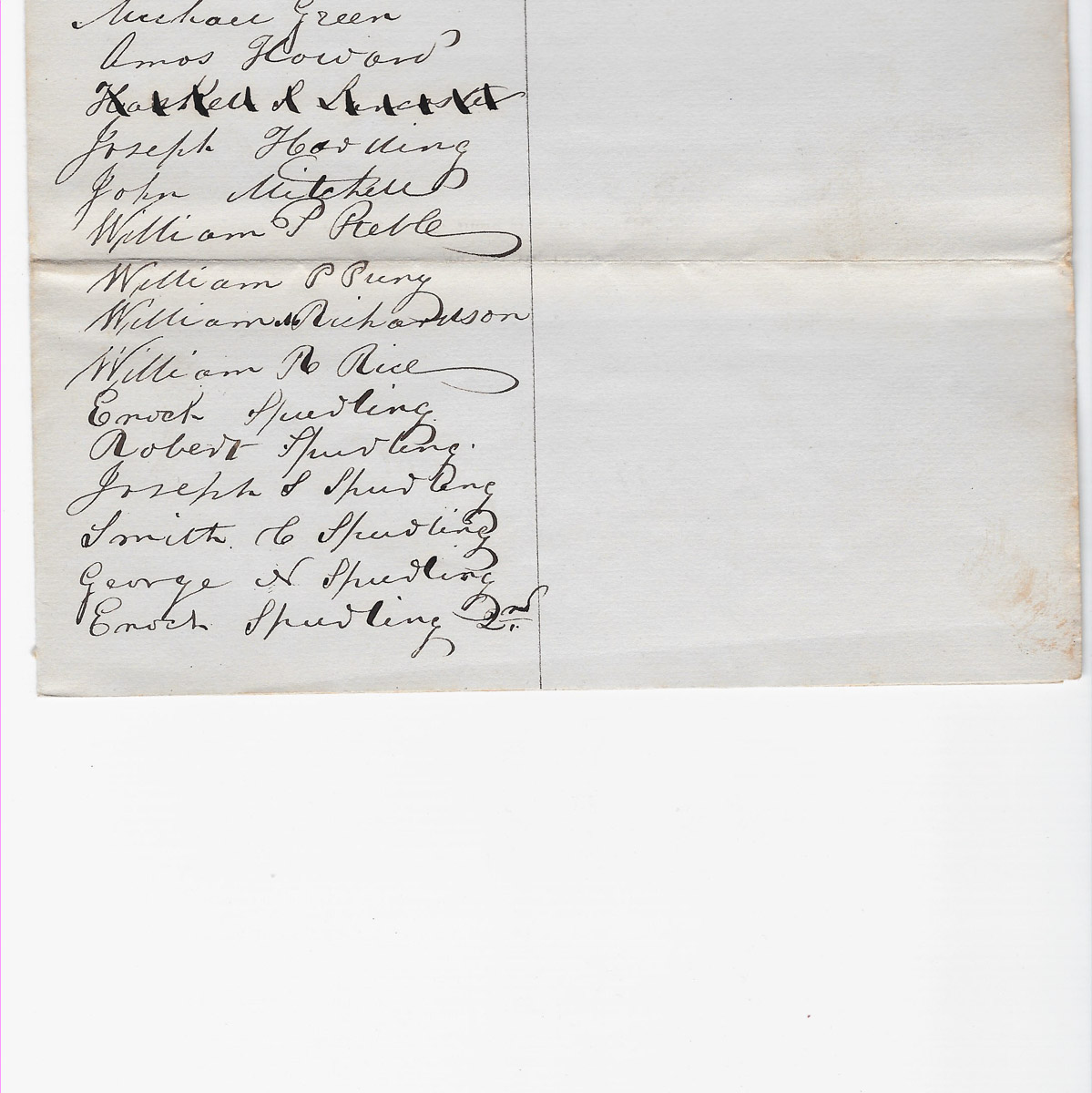 Town of Cranberry Isles records - 1849