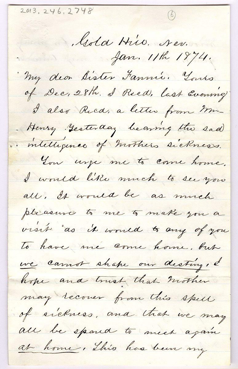 Letter 6 of 6 from Samuel Spurling to Fannie Preble